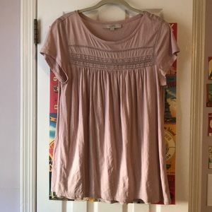 LOFT baby doll pink top
